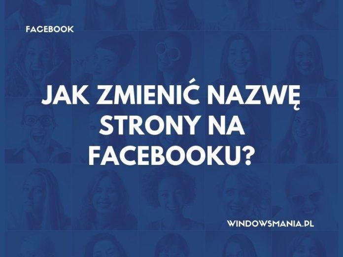 kā mainīt facebook lapas nosaukumu