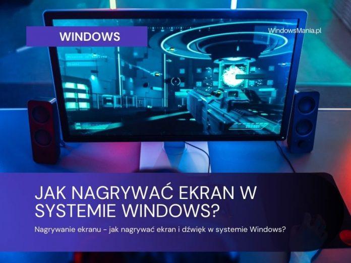 schermrecorder hoe u scherm en geluid in vensters kunt opnemen
