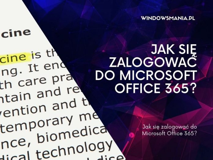 jak sie zalogowac do microsoft office 365