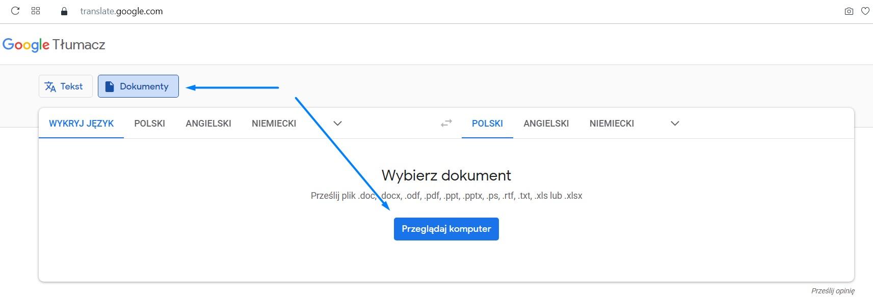 prekladač dokumentov google